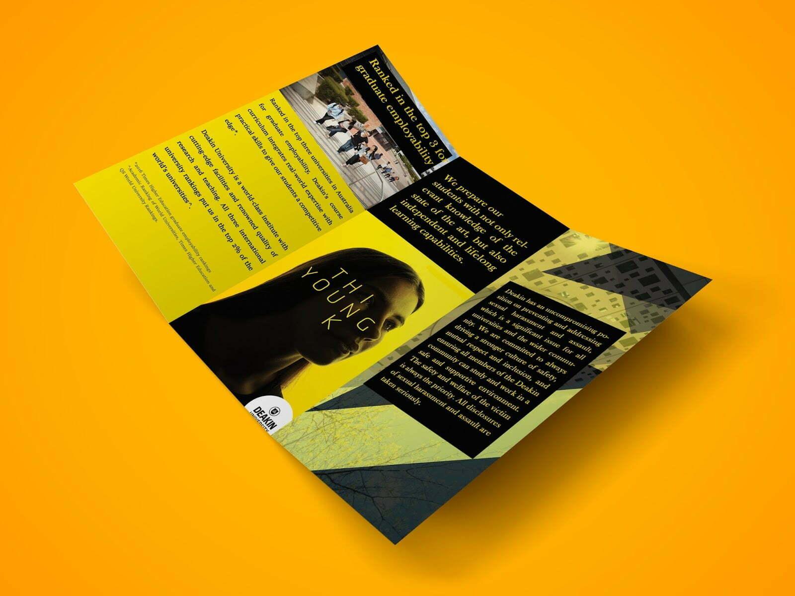 Z Fold Brochure PSD Mockup Vol