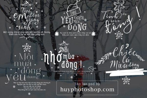 Share file typography psd chủ đề mùa đông noel