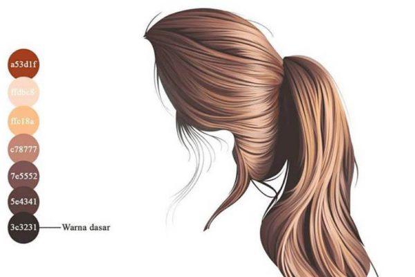 Từng bước để vẽ một mãi tóc