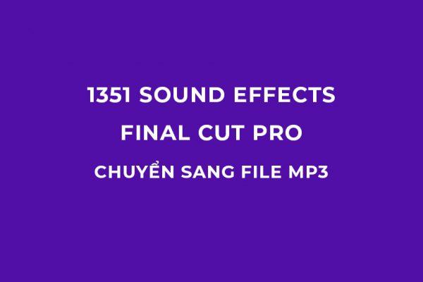 1351 Sound effects Final cut pro đã chuyển sang file mp3
