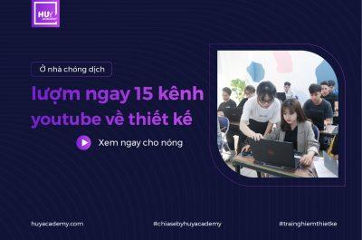Lượm ngay 15 kênh youtube xịn xò về thiết kế