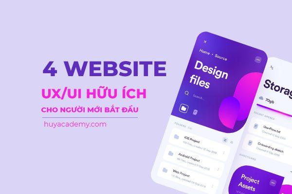 4 website ux/ui hữu ích cho người mới bắt đầu