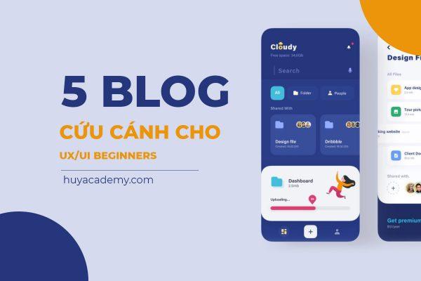 5 blog cứu cánh cho UX/UI Beginners