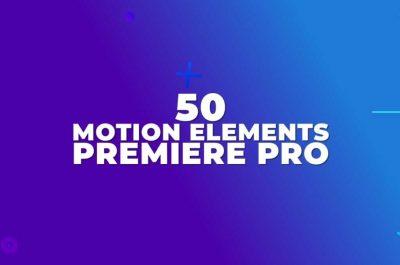 50 Motion Elements Free Adobe Premiere Pro .mogrt