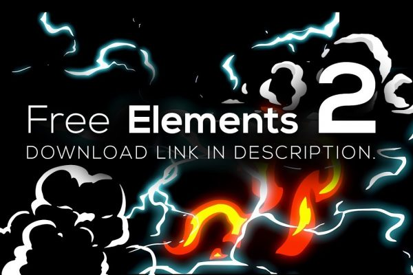 Free Elements Fire | Smoke | Electric | Energy file .mov
