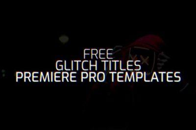 10 Free Glitch Title .mogrt For Adobe Premiere Pro