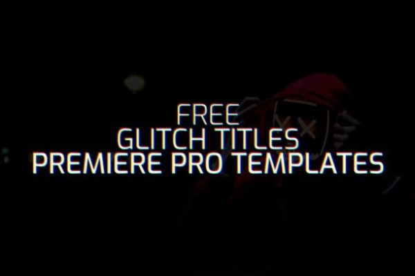 10 Free Glitch Title .mogrt For Adobe Premiere Pro