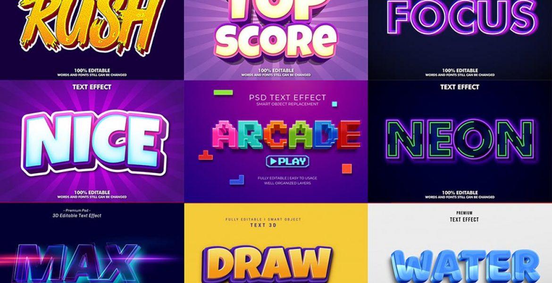 Text Effects file Ai và Photoshop tải miễn phí