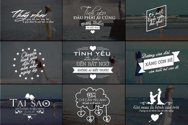 Typography photoshop dành cho ghép ảnh chủ đề tình yêu