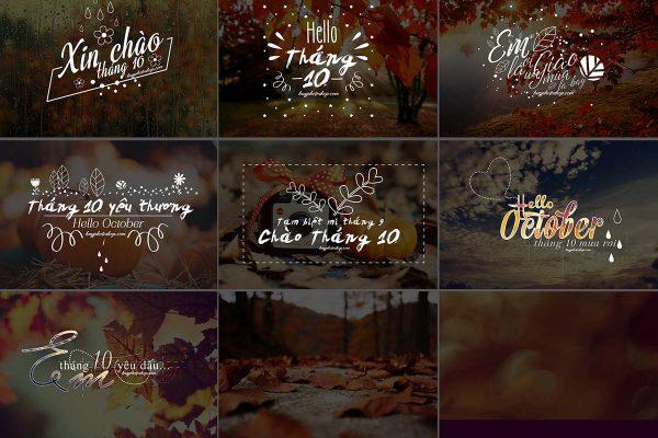 Typography Photoshop Dành Cho Ghép Ảnh chủ đề tháng 10