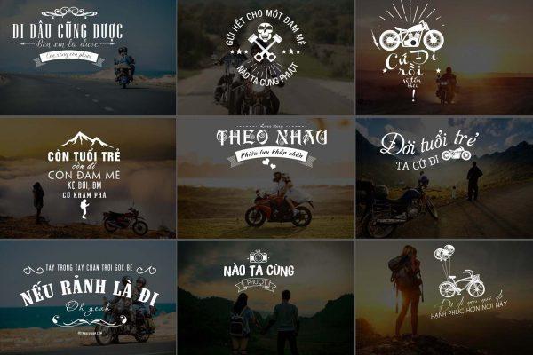 Typography photoshop dành cho ghép ảnh chủ đề phượt