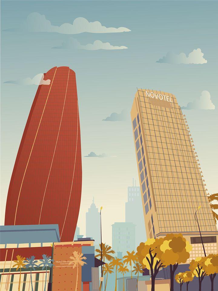 vector da nang city thành phố đà nẵng