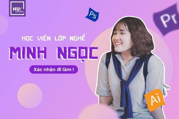 Cô gái nhỏ Minh Ngọc của lớp nghề thiết kế