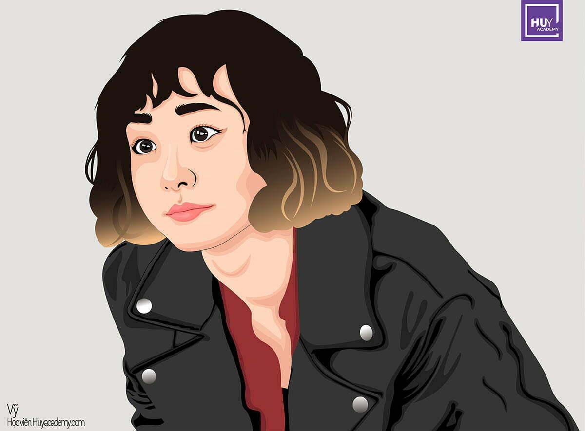 Illustrator portrait itaewon day illustrator da nang (1)