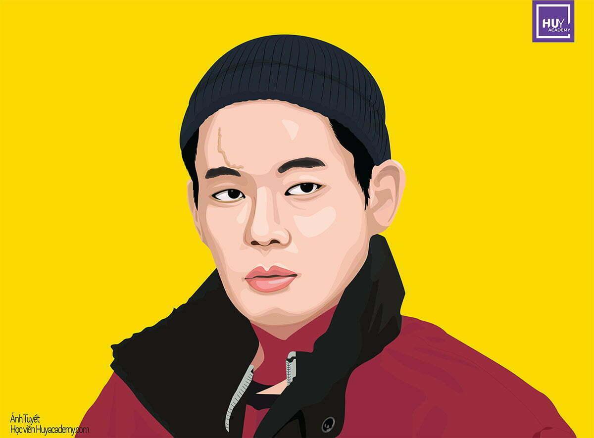 Illustrator portrait itaewon day illustrator da nang (2)