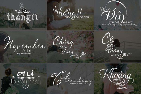 Typography Photoshop Dành Cho Ghép Ảnh chủ đề tháng 11